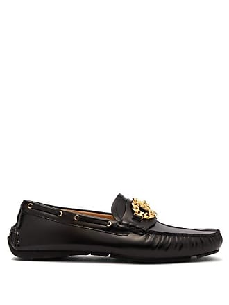 Versace Medusa Leather Loafers - Mens - Black be7a66f4311