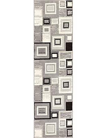 Well Woven 84382 Miami Sensation Squares Modern Geometric Area Rug, 2 x 72 Runner, Grey