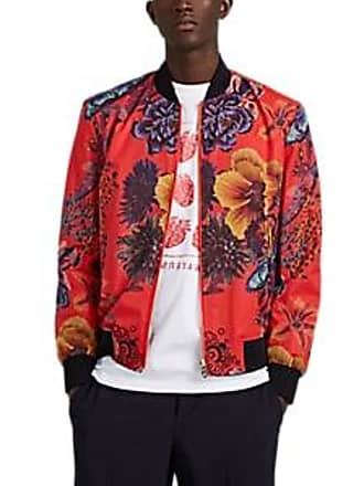 Paul Smith Mens Floral-Print Ripstop Bomber Jacket Size XL