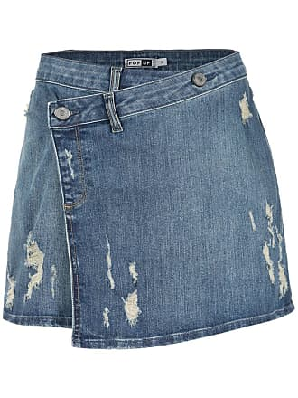 Pop Up Store Saia jeans transpassada - Azul