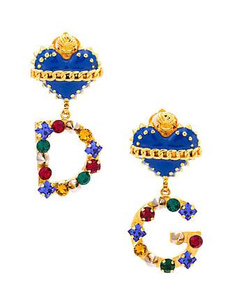 Dolce & Gabbana Par de brincos com cristais - Azul