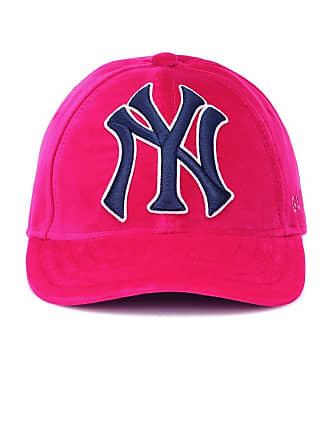 5f07811aa5e466 Gucci NY Yankees velvet baseball cap
