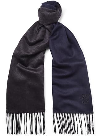 Canali Silk And Cashmere-blend Scarf - Navy