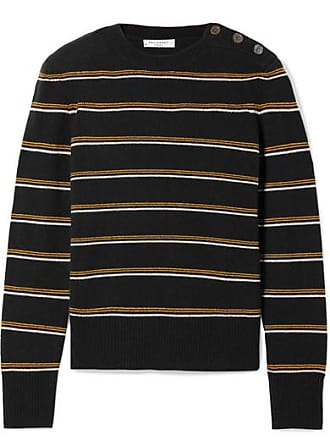 Equipment Duru Striped Wool And Cashmere-blend Sweater - Midnight blue