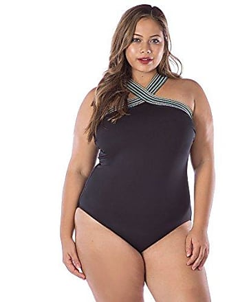 10a5f6afcdd Kenneth Cole Reaction Womens Plus-Size Tummy Control Off The Shoulder One  Piece Swimsuit