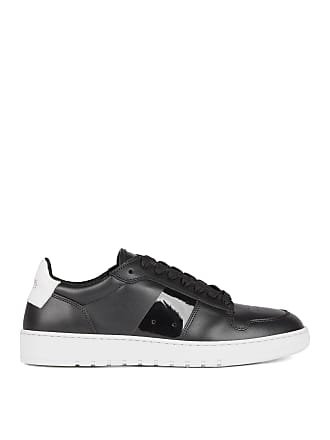 BOSS Low-top sneakers in calf leather with perforated details