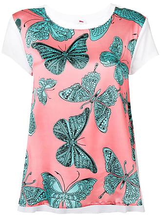Ultra Chic butterfly print T-shirt - Pink