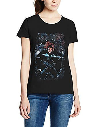 c62291720a71d MARVEL Captain America Civil War Black Widow Breakout, T-Shirt Femme, Noir,
