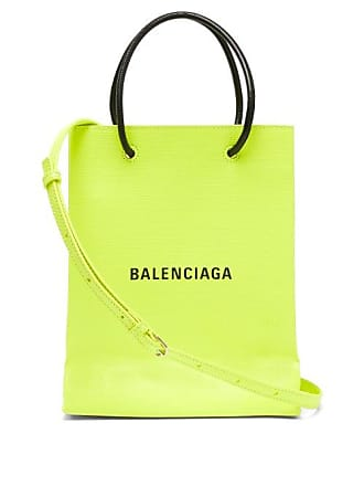 a9fb2eec355 Balenciaga Shopping Tote Xs Logo Print Leather Cross Body Bag - Mens - Green