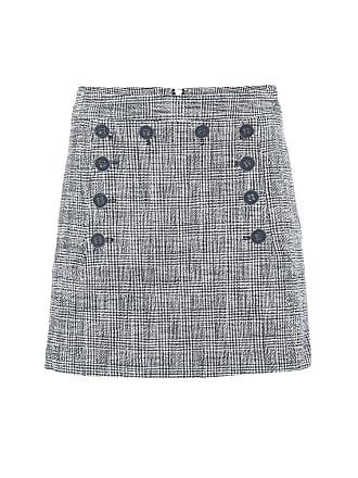 Veronica Beard Maida checked tweed miniskirt