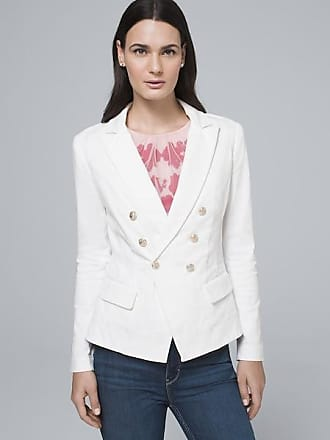 White House Black Market Womens Casual Trophy Jacket by White House Black Market, White, Size 12