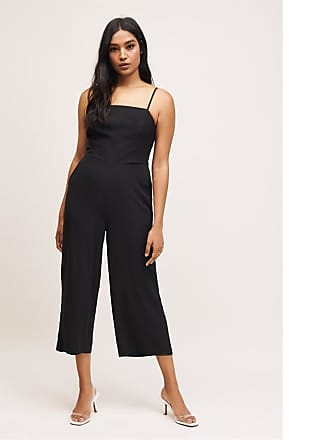 Dynamite Open Back Jumpsuit Jet Black