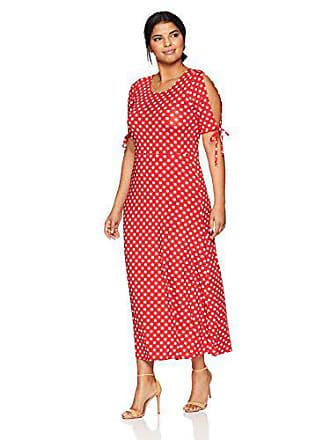 b1097d32330 Star Vixen Womens Plus-Size Short Slit Sleeve Keyhole-Back Skater Seam Maxi