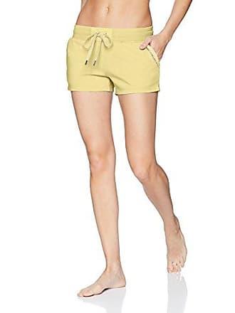 PJ Salvage Womens Revival Lounge Poplin Inset Short, Yellow, L