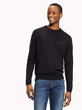 f587015a1 Tommy Hilfiger Mens Luxury Fine Knit Jumper, Sky Captain, X-Large
