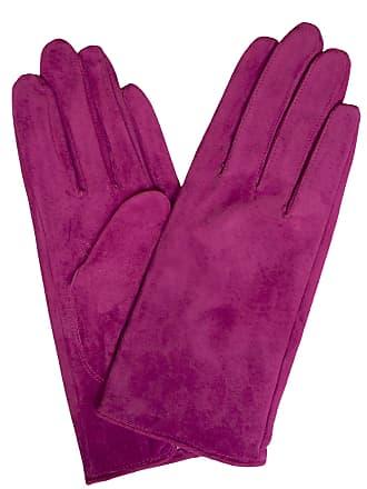 1c8ce3a4474 Dents Ladies Short Classic Plain Soft Suede Gloves (Hot Pink, Large)