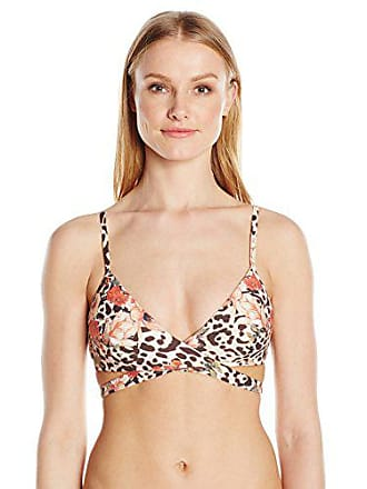 88be06ad74 Guess Womens Flower Animal Padded Wrap Halter Bikini Top
