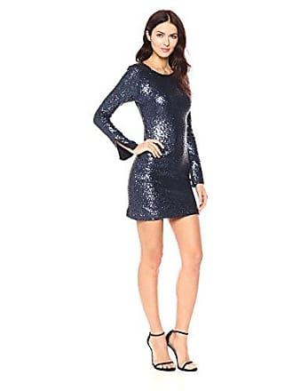 caeb9b377d Cynthia Rowley Womens Sequin Bell Sleeve Dress