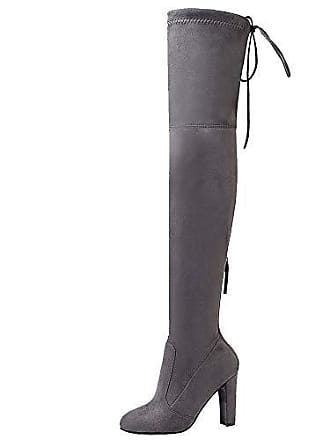 fac6acc7c26350 Zanpa Damen Mode Block Mid Heels Lange Stiefel Kurze Hohe Stiefel Pull On  Party Stiefel Above