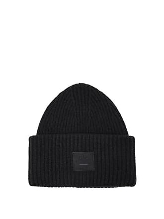 190a4d9353493 Acne Studios Pansy S Face Wool Beanie Hat - Mens - Navy