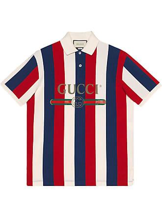Gucci Gucci logo baiadera polo - Multicolour