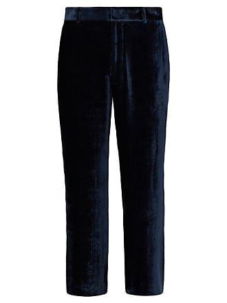 0b5b29ba62 Sies Marjan Alex Silk Blend Corduroy Trousers - Mens - Dark Blue
