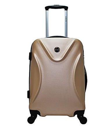 Yin's Mala de Viagem Grande ABS c/Carrinho 360° Champagne YS21016Ch-G