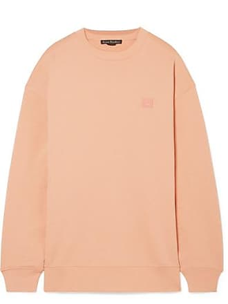 Acne Studios Forba Face Appliquéd Cotton-jersey Sweatshirt - Blush