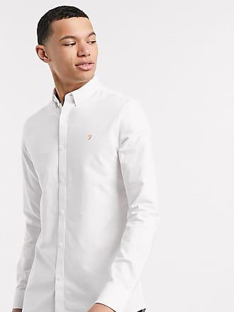 Farah Brewer - Schmal geschnittenes Oxford-Hemd in Weiß