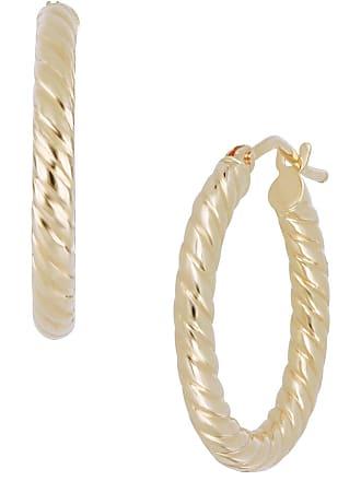 bdd648926 Bony Levy 14K Yellow Gold 15mm Textured Tube Hoop Earrings