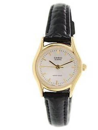 3bcf5943fee5 Casio Reloj con Correa Texturizada y Bisel en Contraste br  Negro y Dorado