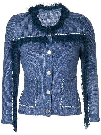 Onefifteen Cardigan com franjas - Azul