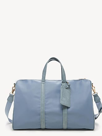 Sole Society Womens Cassidy Weekender Vegan Leather In Color: Dusty Blue Nylon Bag From Sole Society