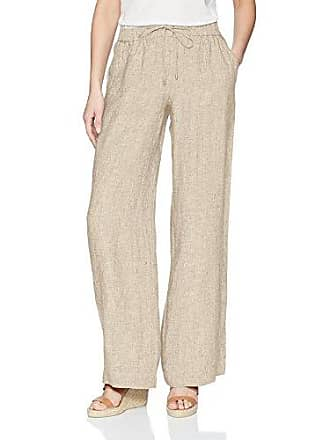 Jones New York Womens Linen Easy Pant, American Khaki, 2