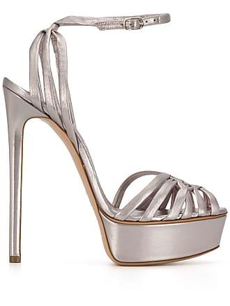 Casadei Flora Bonnie platform sandals - Silver
