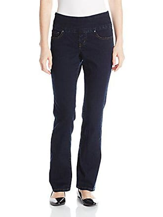 Jag Jeans Womens Petite Paley Boot Pull on Jean, After Midnight, 8P