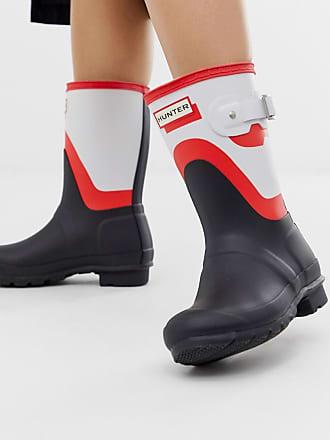 Hunter Original - Stivali da pioggia neri e rossi con stampa sfumata -  Multicolore bbcad7fef94