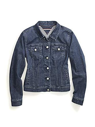 12c104bc Tommy Hilfiger Womens Adaptive Jean Jacket with Magnetic Buttons, Medium  wash, Large