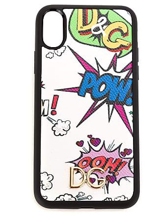 Dolce & Gabbana Case para iPhone X couro - Preto
