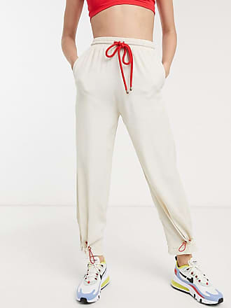 ZYA The Label tracksuit bottoms with tie cuffs-Cream