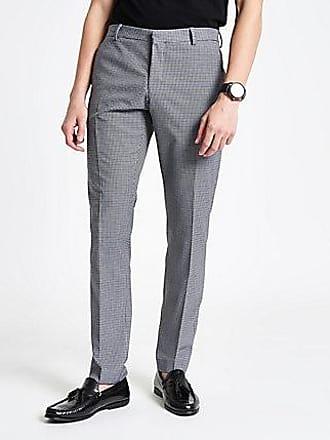 River Island Mens Selected Homme grey slim fit suit pants