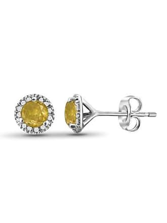 JewelersClub JewelersClub 1/2 Carat T.W. Yellow and White Diamond Sterling Silver Stud Earrings