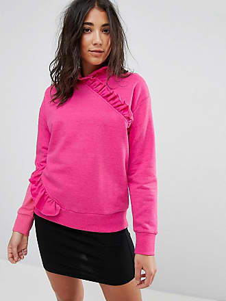 Miss Selfridge High Neck Ruffle Sweater - Pink