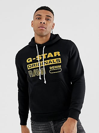 G-Star G-star Originals logo hooded sweat in black - Black
