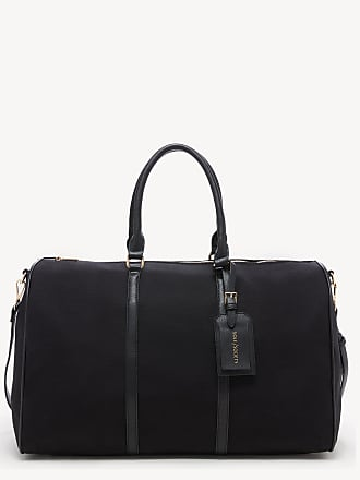 Sole Society Womens Lacie Weekender Vegan Leather In Color: Black Canvas Bag From Sole Society