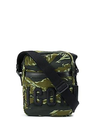 5e18efa52 Dsquared2 Bolsa transversal Icon com estampa camuflada - Verde