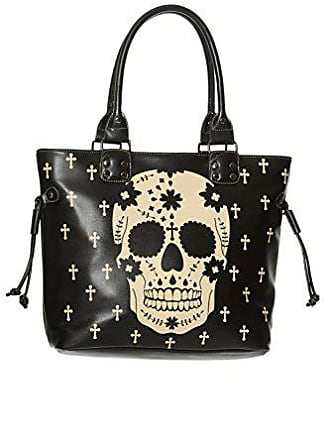 f0ab336a886ec Banned Damen Schultertasche Shopper Tasche - Black Rebel Skull (Schwarz)