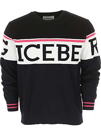 44dbbf9bf59593 Iceberg Sweater for Men Jumper On Sale, Black, Cotton, 2017, M S XL