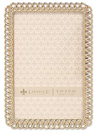 Lawrence Frames 4x6 Gold Metal Eternity Rings Picture Frame