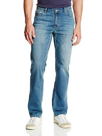 Calvin Klein Mens Straight Jeans, Silver Bullet, 31x32